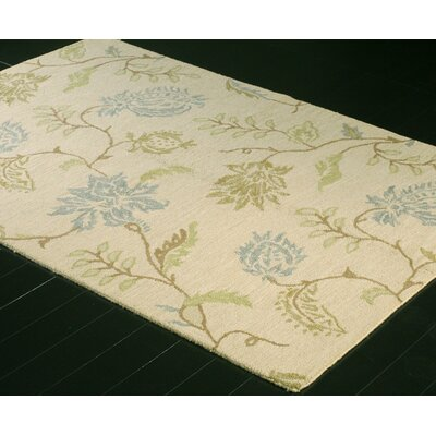 Kirkland Hand-Woven Wool Ivory Area Rug Rug Size: Rectangle 86 x 116