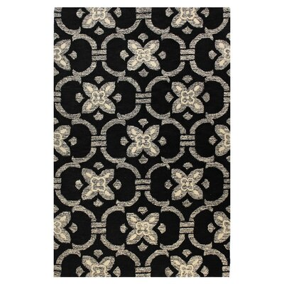 Manorville Black Area Rug Rug Size: Rectangle 5 x 76