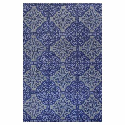 Ashland Blue Area Rug Rug Size: 86 x 116
