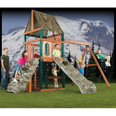 Swing-N-Slide Real Tree Sportsman Wood Complete Play Set at Sears.com