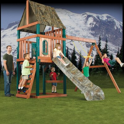 Swing-N-Slide Real Tree Woodsman Wood Complete Play Set at Sears.com
