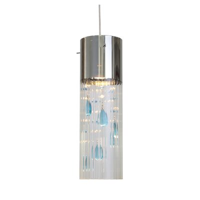 Gem 1 Light Mini Pendant Shade color: Sapphire
