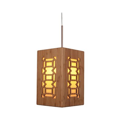 Light House Triune 1-Light Mini Pendant Hardware finish: Classic brass