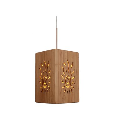 Image of Light House 1 Light Large Bamboo Pendant Hardware finish: Classic brass