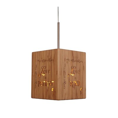 Light House 1-Light Mini Pendant Hardware finish: Classic brass