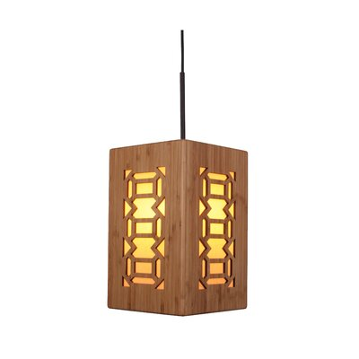 Light House Triune 1-Light Mini Pendant Hardware finish: Metallic bronze