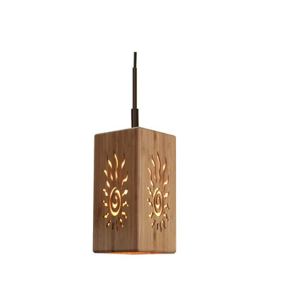 Light House 1-Light Mini Pendant Hardware Finish: Metallic bronze