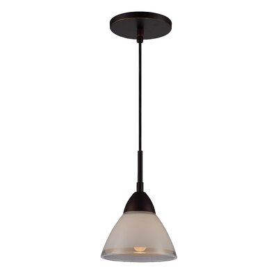 1 Light Mini Pendant Finish: Metallic bronze