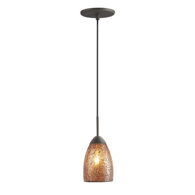 Beaupre 1-Light Pendant Shade Color: Amber Mosaic