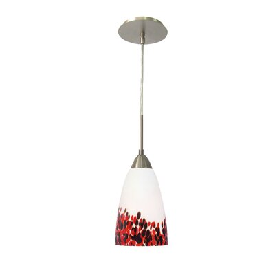 Art Glass 1-Light Mini Pendant Shade Finish: Hiatus, Finish: Satin Nickel