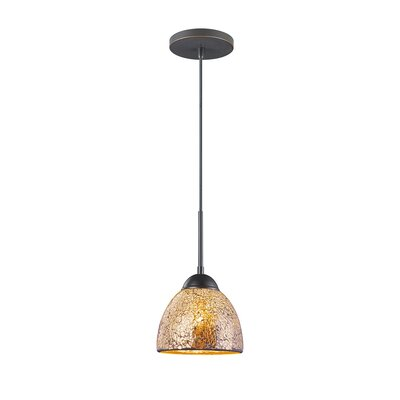 1-Light Mini Pendant Finish: Metallic Bronze, Shade Color: Mirror