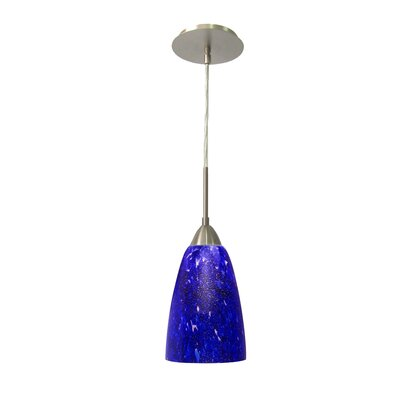 Art Glass 1-Light Mini Pendant Finish: Satin Nickel, Shade Finish: Borealis