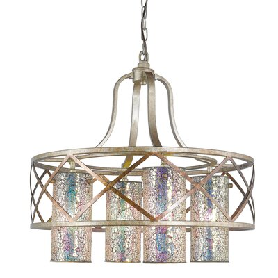 Braid 4-Light Shaded Chandelier Shade Color: Iridescent