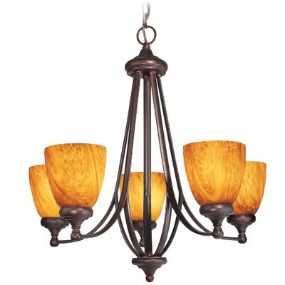 Kenshaw 5-Light Shaded Chandelier Finish: Bordeaux