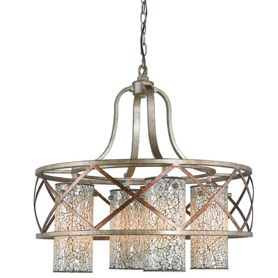Braid 4-Light Shaded Chandelier Shade Color: White