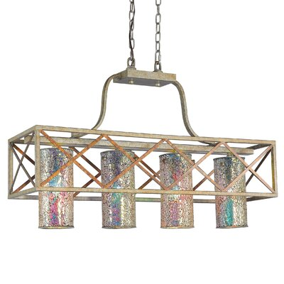 Braid 4-Light Kitchen Island Pendant Shade Color: Iridescent