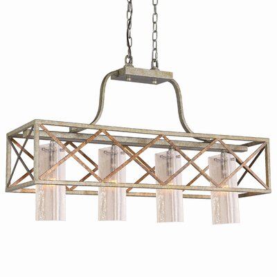 Braid 4-Light Shaded Kitchen Island Pendant
