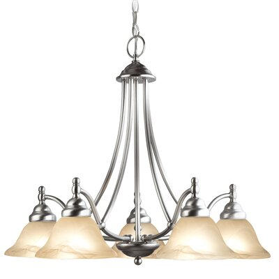 Anson 5-Light Shaded Chandelier Finish: Satin Nickel