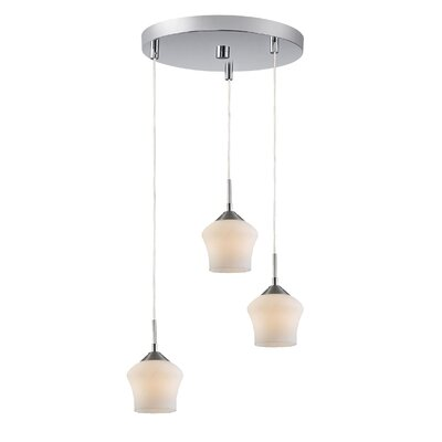 Belmont 3-Light Cascade Pendant Finish: Satin Nickel