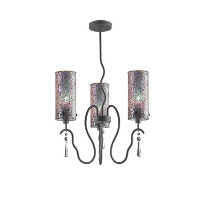 Haley 3-Light Shaded Chandelier Shade Color: Iridescent