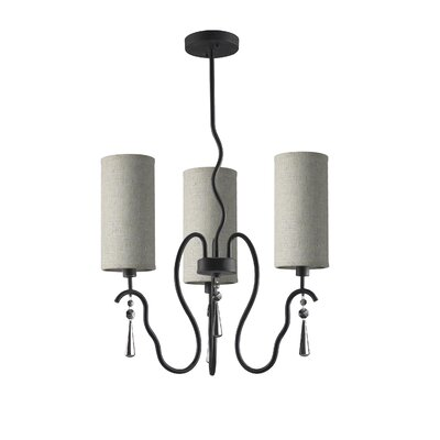 Haley 3-Light Shaded Chandelier Shade Color: Beige