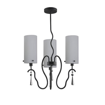Haley 3-Light Shaded Chandelier