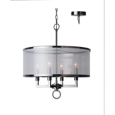 Jamison 4-Light Drum Chandelier Finish: Antique Nickel