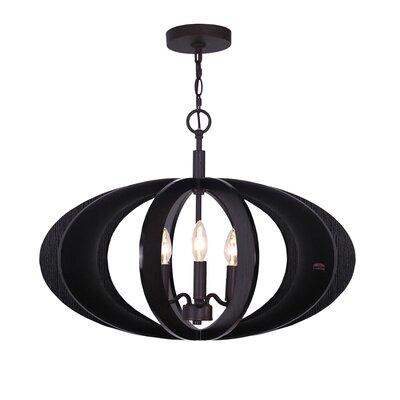 Fins Aquatech Wood 3 Light Pendant 14013MEB-W1D2WG