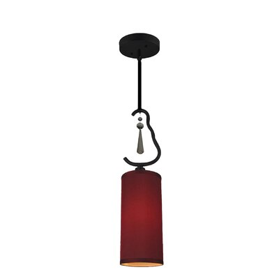 Haley 1-Light Mini Pendant Shade Color: Maroon