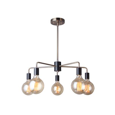 Ethan 5-Light Sputnik Chandelier Finish: Satin Nickel/Bronze