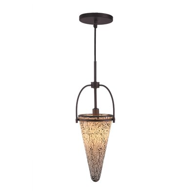 Kenda 1-Light Mini Pendant Finish: Metallic Bronze, Shade Color: White