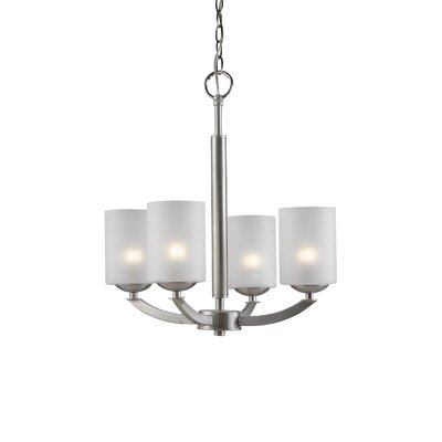 Mirage 4-Light Shaded Chandelier Finish: Satin Nickel
