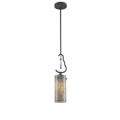 Haley 1-Light Mini Pendant Shade Color: White