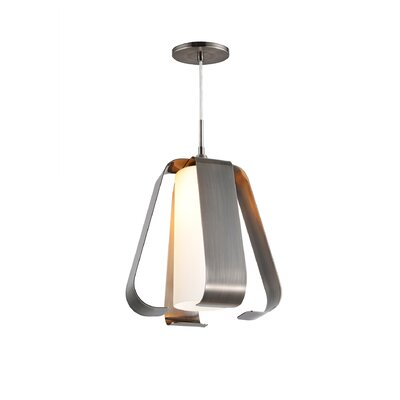 Bent 1-Light Mini Pendant Finish: Antique Nickel