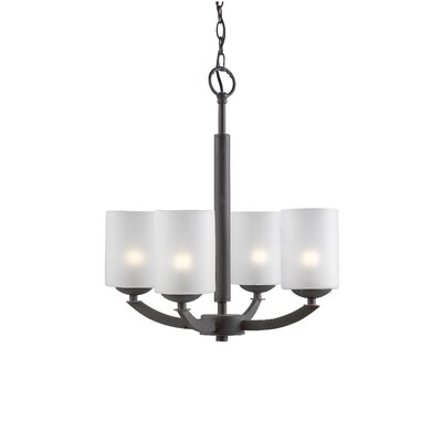 Mirage 4-Light Shaded Chandelier Finish: Metallic Bronze