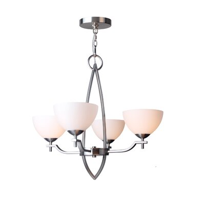 Alexis 4-Light Shaded Chandelier