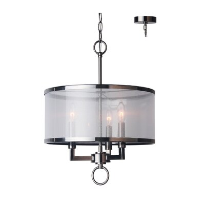 Jamison 3-Light Drum Chandelier Finish: Antique Nickel