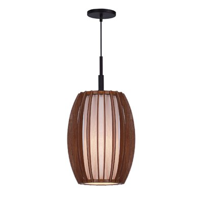 Fins Wood 1-Light Mini Pendant Finish: Bronze