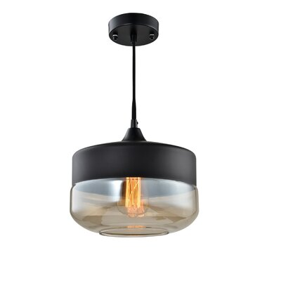 Fuse 1-Light Pendant Shade Color: Black