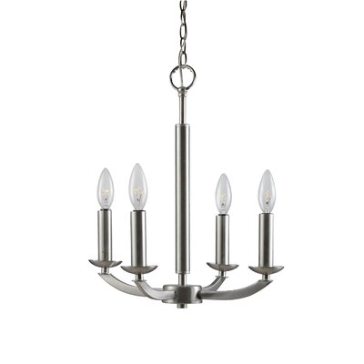 Lola 4-Light Candle-Style Chandelier Finish: Satin Nickel