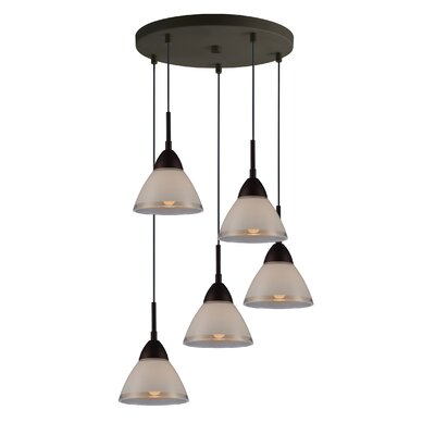 Lucia 5-Light Cascade Pendant Finish: Metallic Bronze