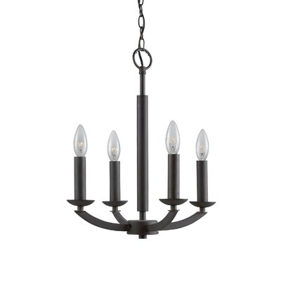 Lola 4-Light Candle-Style Chandelier Finish: Metallic Bronze