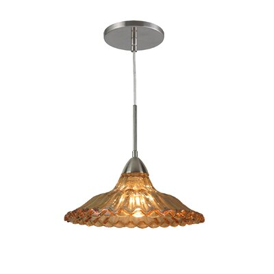 Miranda 1-Light Mid Pendant Finish: Satin Nickel