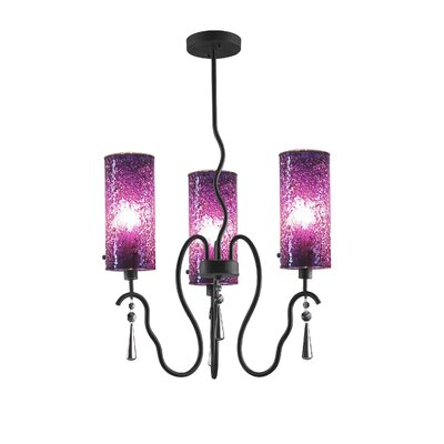 Haley 3-Light Shaded Chandelier Shade Color: Purple