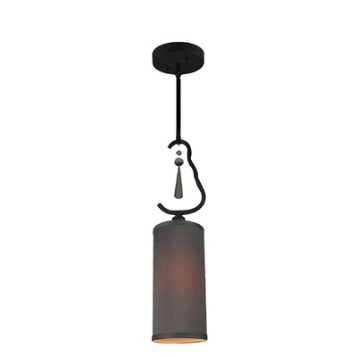 Haley 1-Light Mini Pendant Shade Color: Gray