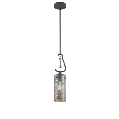 Haley 1-Light Mini Pendant Shade Color: Iridescent