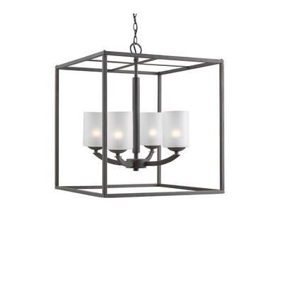 Mirage 4-Light Foyer Pendant Finish: Metallic Bronze