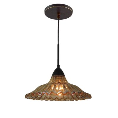 Miranda 1-Light Mid Pendant Finish: Metallic Bronze