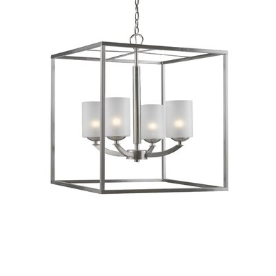 Mirage 4-Light Foyer Pendant Finish: Satin Nickle