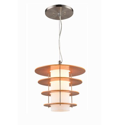 Layers 1-Light Mini Pendant Finish: Satin Nickel